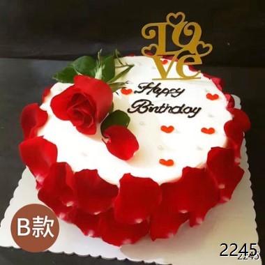 玫瑰花瓣蛋糕