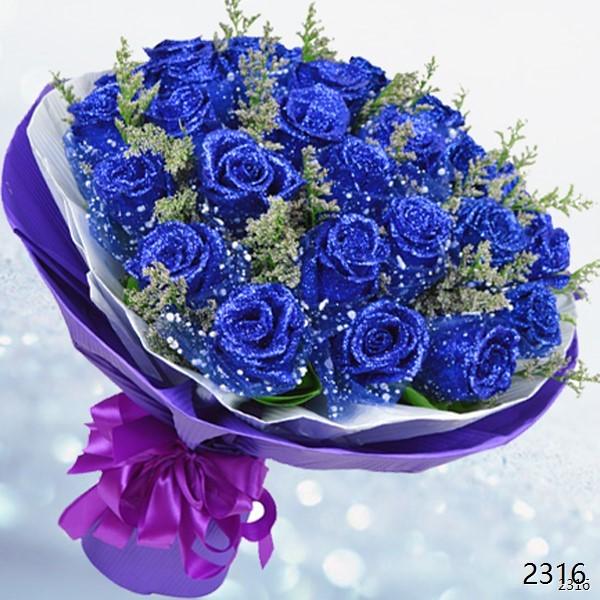 33朵蓝色妖姬
