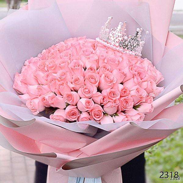 99朵粉玫瑰