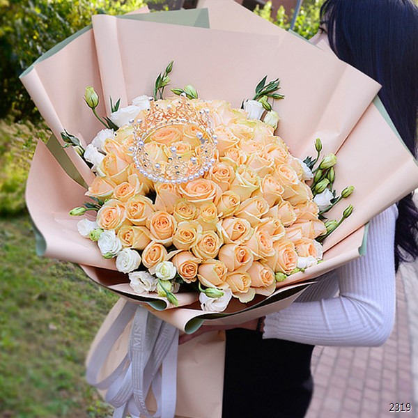 99朵香槟玫瑰