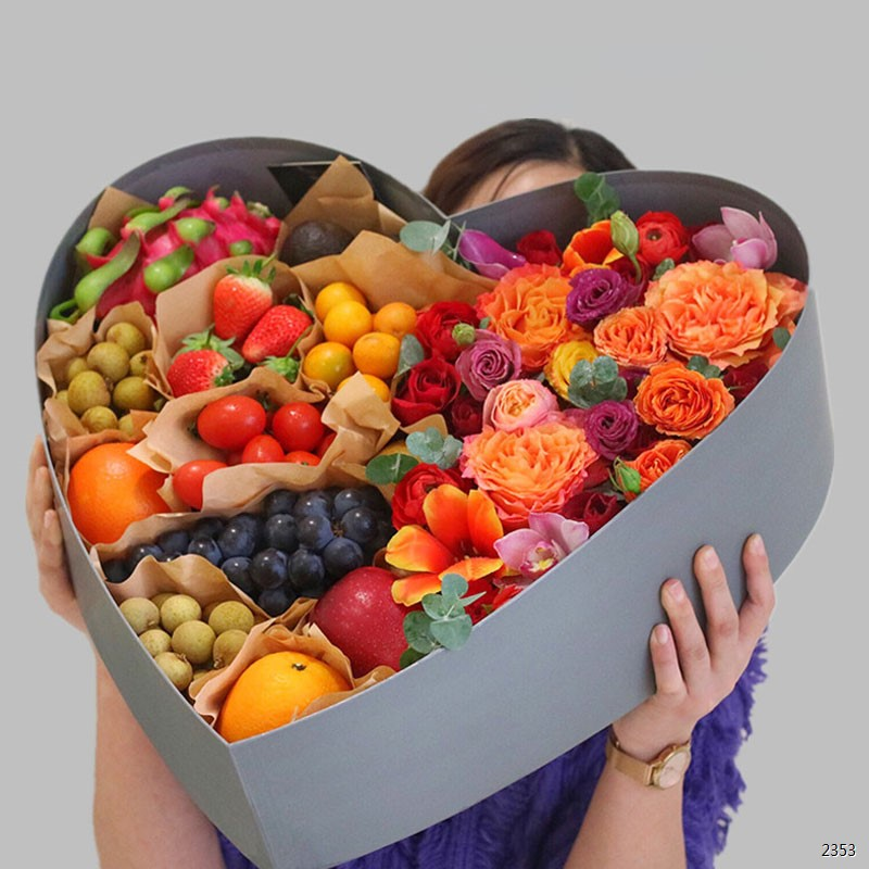 混合玫瑰水果礼盒
