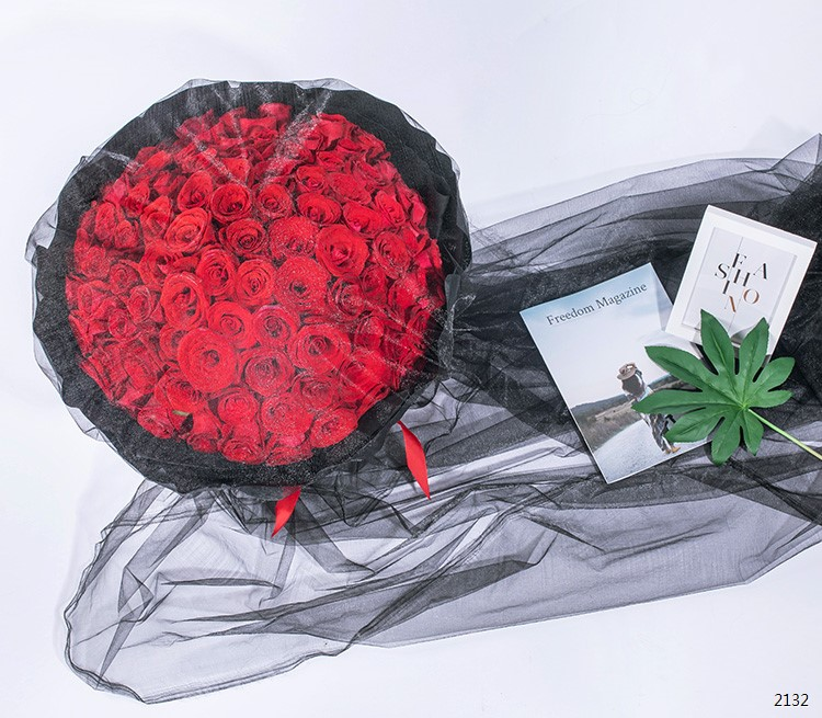 炙热(复古网纱款)/99枝--红玫瑰99枝